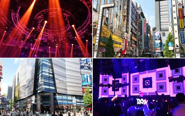 新宿のクラブと歌舞伎町の街並み